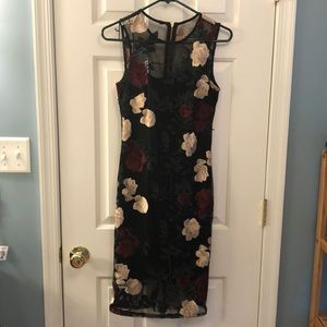 Calvin Klein embroidered sheath dress Sz 2